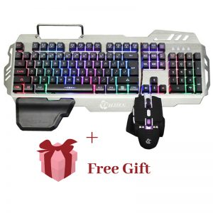 PK900 English and Russian RGB Backlit Keyboard Mouse Combo