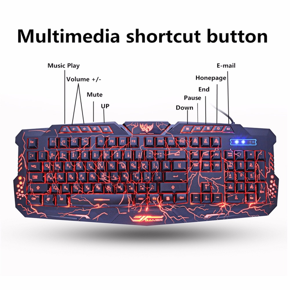 7dd13a91fdd M200 PURPLE/BLUE/RED LED BREATHING BACKLIGHT PRO GAMING KEYBOARD MOUSE COMBO